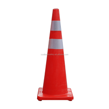 high visibility 90cm Soft Flexible PVC plastic road traffic cones