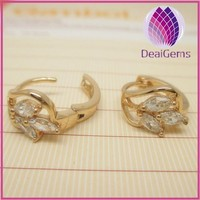 fashion flower 24k gold plated copper earring