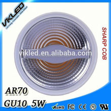 hotest sell AR70 6W GU10 2700K led aluminum