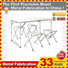 Outdoor Small Folding Camping chair and Table Set One Table and Four Chairs Set