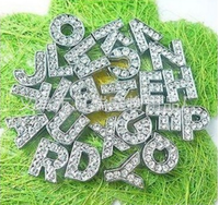 Trade Assurance FREE SHIPPING Crystal Alphabet Letter unique pet dog products wholesale
