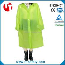Outdoor Matting Translucent Women Bicycle Jacket Long EVA Raincoat