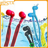 Fashion color deep bass sound light gift waterproof earphone