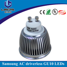 AC230V driverless 2800K warm white LED 5W GU10 replace halogen 50w