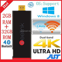 Beelink P2 TV Dongle MINI PC Windows8 Intel Z3735F 2GB/32GB Quad core smart TV Stick with free remote control