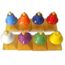 Soporte de madera de metal toque de las campanas, las campanas de tocar con el palo