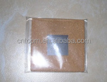 Promotional small sute square 5cm cork memo board with middle magent sheet of back for office stationery/home