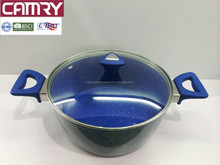 forged alumnium induction stock pot with two handles