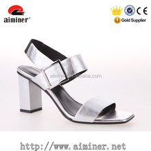 charming siliver patent leather sexy summer sandal woman shoes