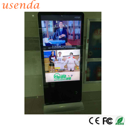 55 inch stand alone lcd advertising player full hd video shopping mall monitor commercial advertising display online vending