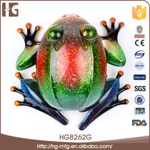 Modern handicraft decorative 14x13x7.5CMH particoloured frog home decor wholesale