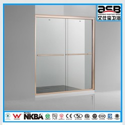 HangZhou home framed 8mm Tempered Glass shower bathroom screen
