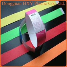 HXY Very Cheap Waterproof Tyvek Wristbands for Event