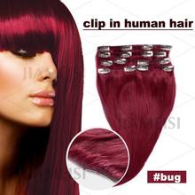 Clip en extensiones de cabello para afroamericano