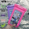 2015 new design cell phone pvc waterproof dry cell phone bag