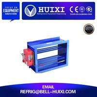 70 Degree Rectangular Fire HVAC Motorized Damper