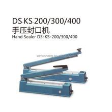 DS-KS-200/300/400 Hand impulse Sealer, Stainless steel shell impulse heat sealer