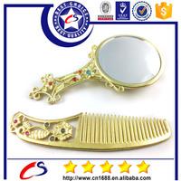 High quality metallic hand held pocket mirrors wholesale