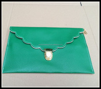 Wholesale Monogrammed scalloped Envelope clutch