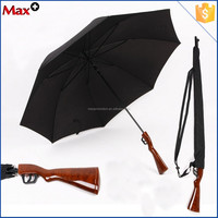 Unique design fiberglass ribs straight men's water gun umbrella