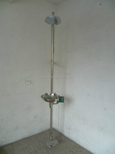 304 Emergency eye washer shower with foot pedal and ISO9000 Certificate