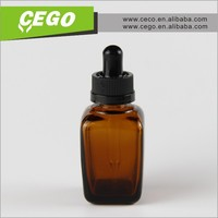 30ml amber square glass bottles , child proof cap and tip square dropper glass bottles