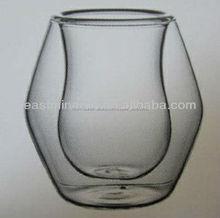 taza de vidrio con doble pared