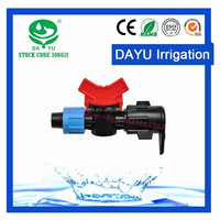 Irrigation Plastic fittings Drip Tape Valve for Lay Flat Hose