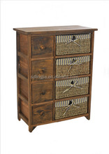 New Hall Stand Toy Box Cabinet Storage Unit Basket Woven TV Cabinet