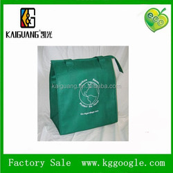 Dark-green Insulated Reusable Grocery Shopping Bag for promotion