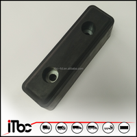 Black EPDM rubber buffer