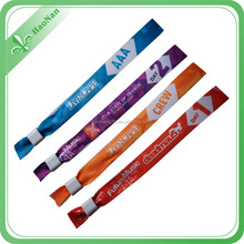 festival woven wristbands for events high quality promotion