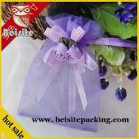 custom china 2015 fashion large cheap organza gift bags wholesale hot selling organza wedding pouch jewelry pouch