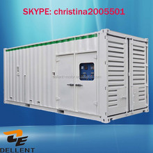 multy-functional big power station container diesel generator price
