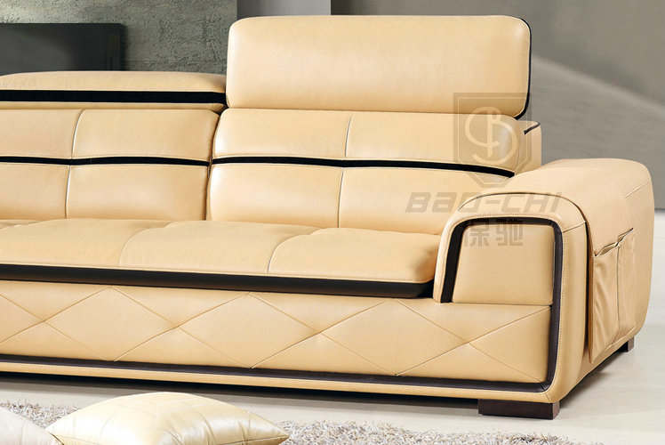 Baochi used home bar furniture cheap genuine leather sofa for Hall furniture design sofa set