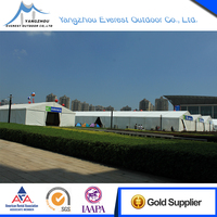 Easy to carry trade show clear span dinner party tent