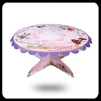 Single Tier Party Cake Stand, Garden Cupcake Platter