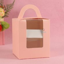 wholesale paper take away single cupcake box