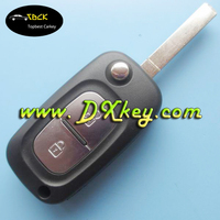 Top quality 2 button flip remote key case for Renault remote key Renault key case with 206 key blade with logo
