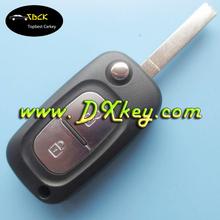 Top quality 2 button flip remote key case for Renault remote key Renault key case with 206 key blade with logo