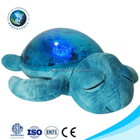 Promotional cute baby night light up plush toy custom soft plush turtle night light