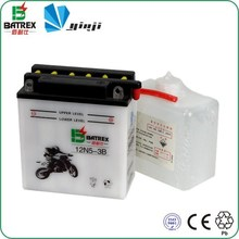 Made In China Lead Acid Dry Charged Motorcycle Battery 12V 5Ah For 12N5-3B