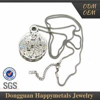 Sgs Stainless Steel Custom Laser Bisuteria Fashion Necklace