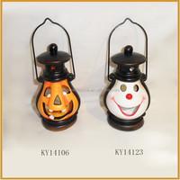 lamp shape ceramic hawlloween pumpkin tealight holder