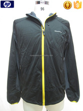 Sports bonded fabric windbreaker jacket for men
