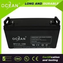 12v UPS battery 12v 100ah lead acid batteries manufucturer in China