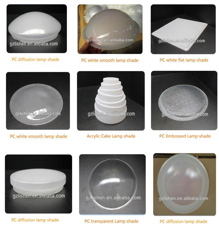 Diffuser Plastic Half Round Flat Dome Lamp Shade