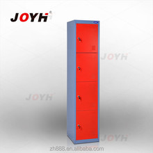 4 door steel locker/metal clothes cabinet/tall thin storage cabinet