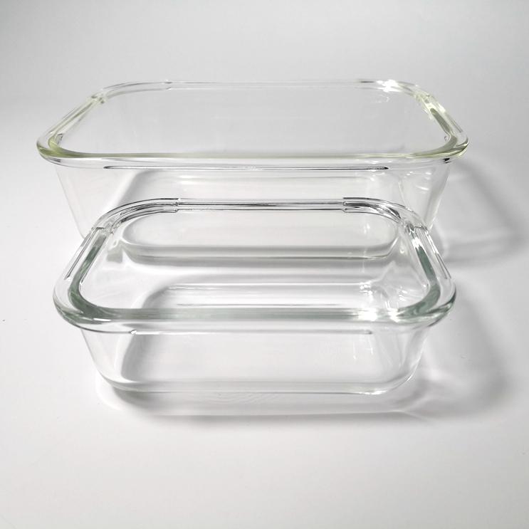 Borosilicate Ăn Trưa Kính Hộp Nhiệt-Thủy Tinh Chịu Bento Box