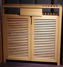 New design home furniture bamboo shoe rack shoe cabinet